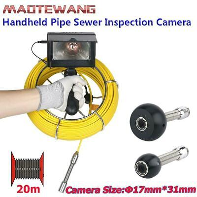 20M 4.3 inch Handheld LED Pipe Drain Sewer Inspection Video Camera Waterproof