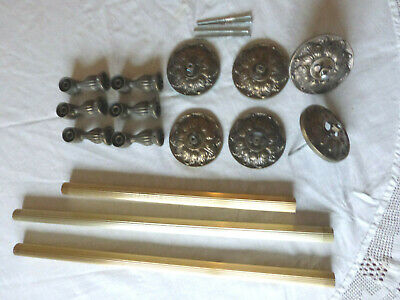 Vintage Antique Brass Towel Bars Set of 3; Heavy Duty, High Quality