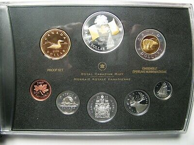 2005 Proof Set 40th Anniversary Canadian Flag .9999 Silver w/ Gold Canada