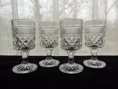Anchor Hocking Glass 4 Clear Wexford 4 ounce Wine Goblets