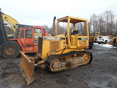 John Deere 550G TC Crawler Dozer NEW TRACKS!! Turbo DSL 6 Way Blade