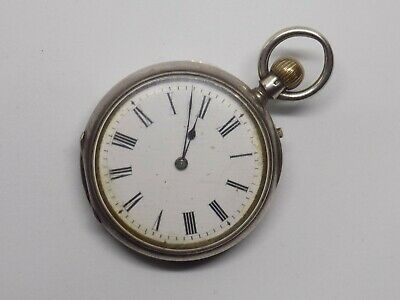 Small Antique Argent 935 Silver Pocket Watch. Hand Wound. For Repair.