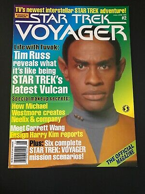 Vintage 1995  star trek voyager magazine June 1995 Back Issue # 2