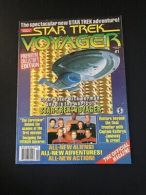 Vintage star trek voyager magazine April 1995 Back Issue  #1  Premiere Edition