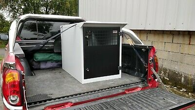 Dog Box UK Single Dog Transportation Box Crate K9 DB9 L200 Ranger Weatherproof