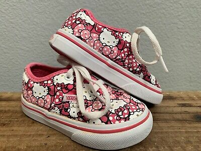 VANS AUTHENTIC HELLO Kitty Shoes Pink White Print Womens Sz