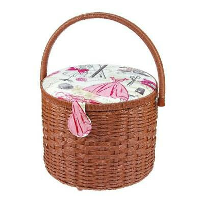 Sewing Basket- With Handle - Large Round Shape Brand New