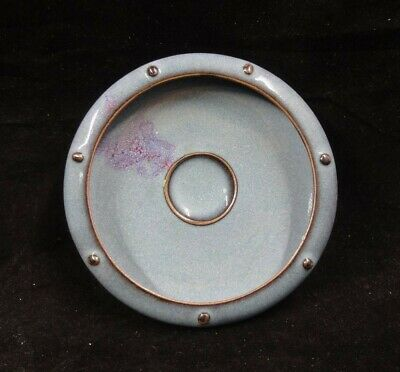 "Very Fine Old Chinese ""Jun"" Kiln Round Porcelain Brush Washer"