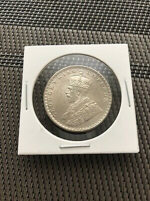 1912 India George V Silver Rupee Coin