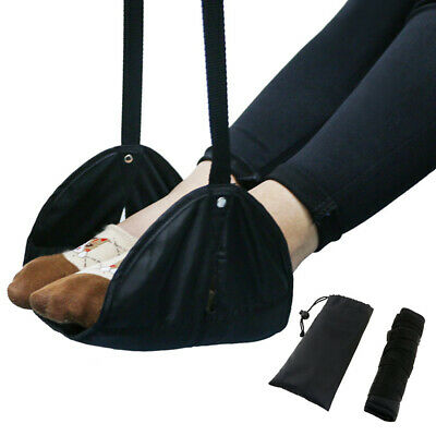 Comfy Hanger Travel Airplane Footrest Hammock Foot Adjustable Rest Relax Pillow