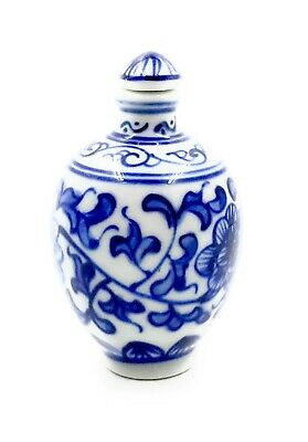 3 inch Chinese Porcelain Blue and White  Snuff Bottle