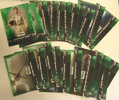 2019 Topps Star Wars RISE OF SKYWALKER (22) Green Parallel Chase Base Cards MNMT