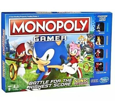 MONOPOLY Gamer Sonic The Hedgehog Edition Board Game SONIC FREE 2 DAY SHIPPING