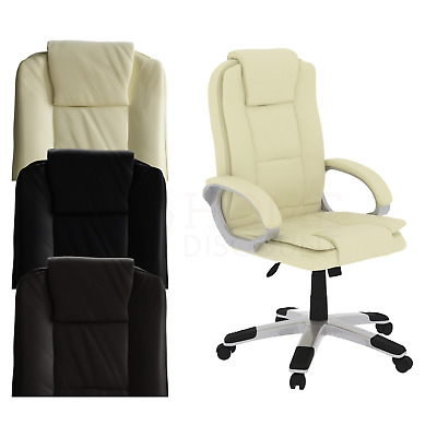 Executive Office Chair Gaming Computer Home Swivel Leather Adjustable Desk