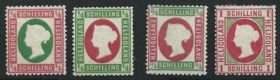 1869-73 Heligoland - N° 5+ 5a+ 7/8 4 Values ( ) / without Rubber