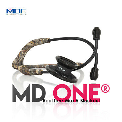 MD One® Real Tree Max-5 Stethoscope - Limited Edition - Blackout (MDF777-RTBO)