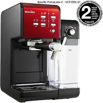 Breville PrimaLatte II Automatic Coffee Maker, Intergrated Milk Frother