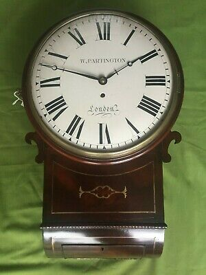 "A English Fusee 12"" Convex  Trunk Dial Wall Clock"