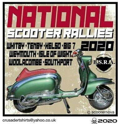 2020 NATIONAL YEAR SCOOTER RALLY RUN BSRA PATCH SKINHEADS not PADDY SMITH