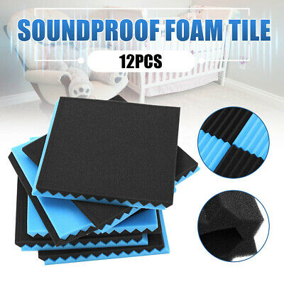 12/24/36/48Pack Acoustic Wall Panels Tiles Studio Treatments Sound Proofing Foam