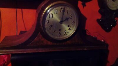 Antique mantel clock, westminster chimes, Seth Thomas, USA, with guarantee leaf