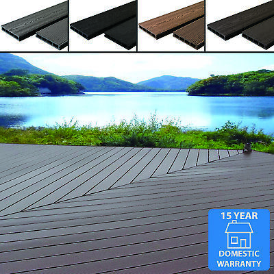 Any Sqm Wpc Composite Decking Boards Complete Kits & Fixings 4 Colour Wood Grain