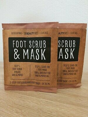 Masque et Gommage Pied - Foot Scrub and Mask 15MLx4