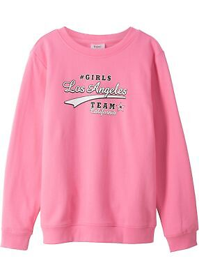 Sweatshirt Gr. 164/170 Knallrosa Mädchen Sweat-Shirt Kinder-Fleeceshirt Neu*