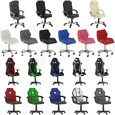 Racing Gaming Executive Chair Home Office Swivel Recliner Leather Computer Desk