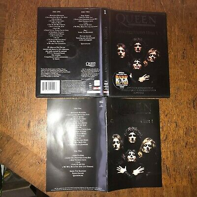 Queen Double Disc DVD Collection Greatest Video Hits 1 PAL