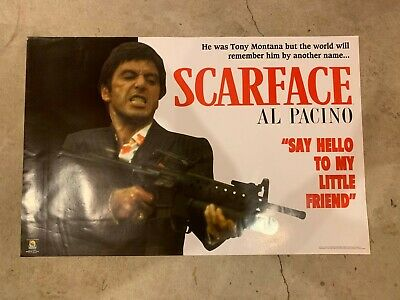 scarface poster 22x34 - al pacino, say hello to my little friend