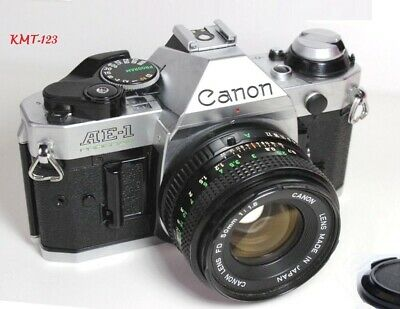 Canon AE-1 Program 35mm Film Manual Camera 50mm F1.8 Lens Excellent Condition