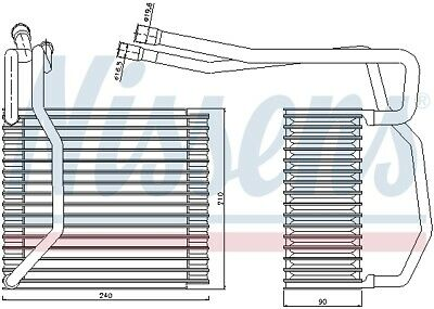 92194 NISSENS Evaporator, air conditioning for FORD,VW