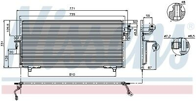 94299 NISSENS Condenser, air conditioning for NISSAN