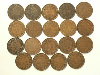 1901 to 1920 Canada Large Cents Lot of 19  #3242