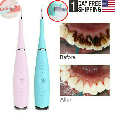 Electric Ultrasonic Sonic Pic Tooth Stain Eraser Plaque Remover Dental Tool Teet