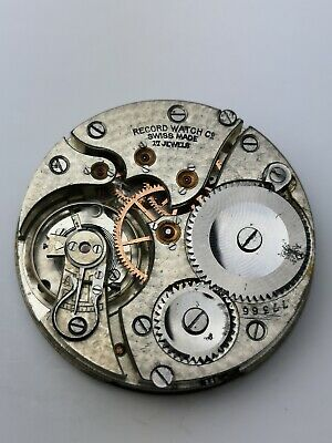High Grade Record Watch Co Pocket Watch Movement 17 Jewels Working (A62)