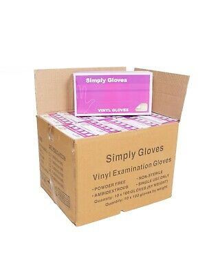 Clear Blue Disposable Nitrile Vinyl Gloves Box of 1000 Food Medical Cleaning