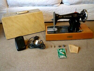 Antique Singer 15k Electric Sewing Machine 1941-original & fully working-Ex Cond