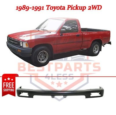 Front Bumper For 95-97 Toyota Tacoma Painted Black Steel 2wd 1 pc type