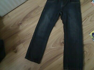 Boys next blue cotton trousers adjustable waist age 6 height 116cm (new)