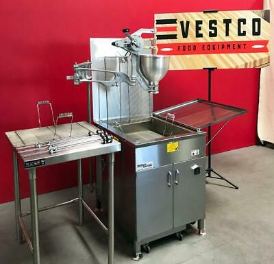 2019 Belshaw Adamatic 718LFG-NG 96lb. Gas Donut Fryer With Filter & Dropper