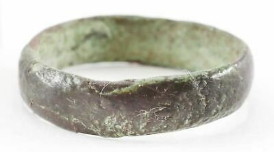 RARE ANCIENT VIKING WEDDING RING, 900-1050 AD Danelaw England. Bronze, size 7 ½