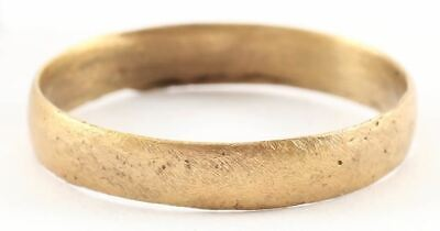 ANCIENT VIKING WEDDING RING Late 9th-early 11th century AD. Gilt bronze, size 10