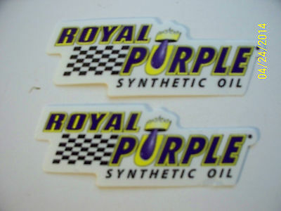 "ORIGINAL RACING  DECALS  ""  2  ROYAL  PURPLE  SYNTHETIC OIL ""  3"" x 1""   #1"