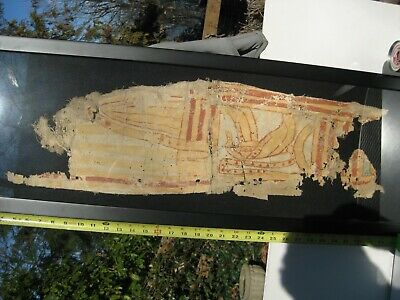 Large Ancient Egyptian Cartonnage Mummy Shroud Fragment
