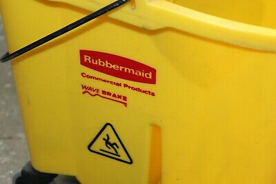 ****USED***Rubbermaid Commercial Products 35 Qt. Wavebrake Mop Bucket Wringer  D