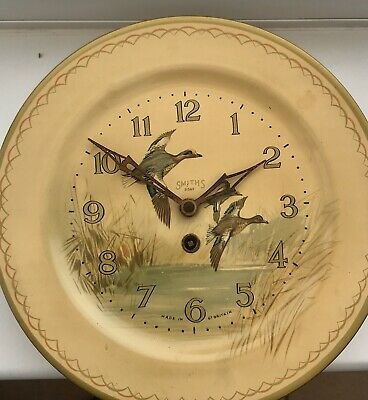 8 Day Smiths Bird Theme Vintage Wall Clock With Key