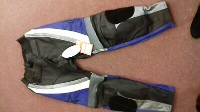 Size 38 New Motor Bike Leather Trousers Brand New With Tags