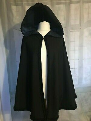 LADIES VICTORIAN / Edwardian / Regency STYLE CAPE with HOOD  COSTUME NEW